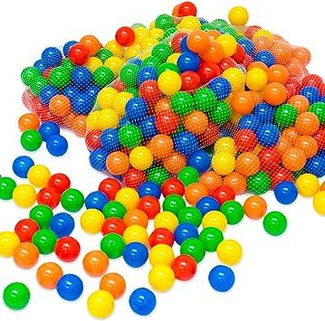 LittleTom 1200 Pelotas para Bebés Niño 5,5cm Bolas de Colores para ...