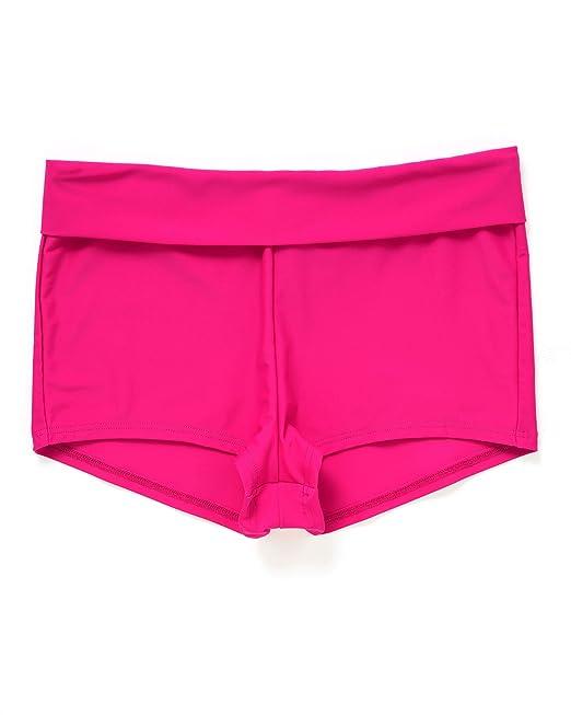 726805e7c4 Cotton Traders Womens Ladies Roll Top Tummy Control Flattering Shorts  Beachwear Swimwear Fuchsia US 6/