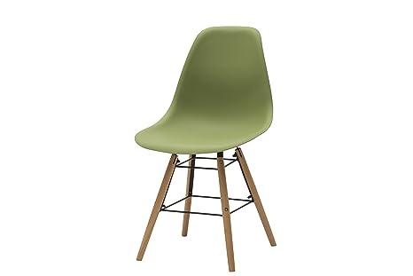 White loft set di 4 sedie legno verde 47 x 52 x 84 cm: amazon.it