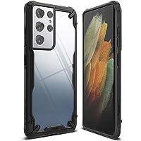 "Ringke Fusion-X Compatible con Funda Galaxy S21 Ultra 5G (6.8"") Carcasa Protección Resistente Impactos TPU + PC Case…"