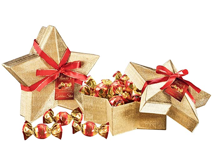 Paquete de 8 bolas doradas que contienen bolas de peluche rellenos de crema Hazel Vanoir -