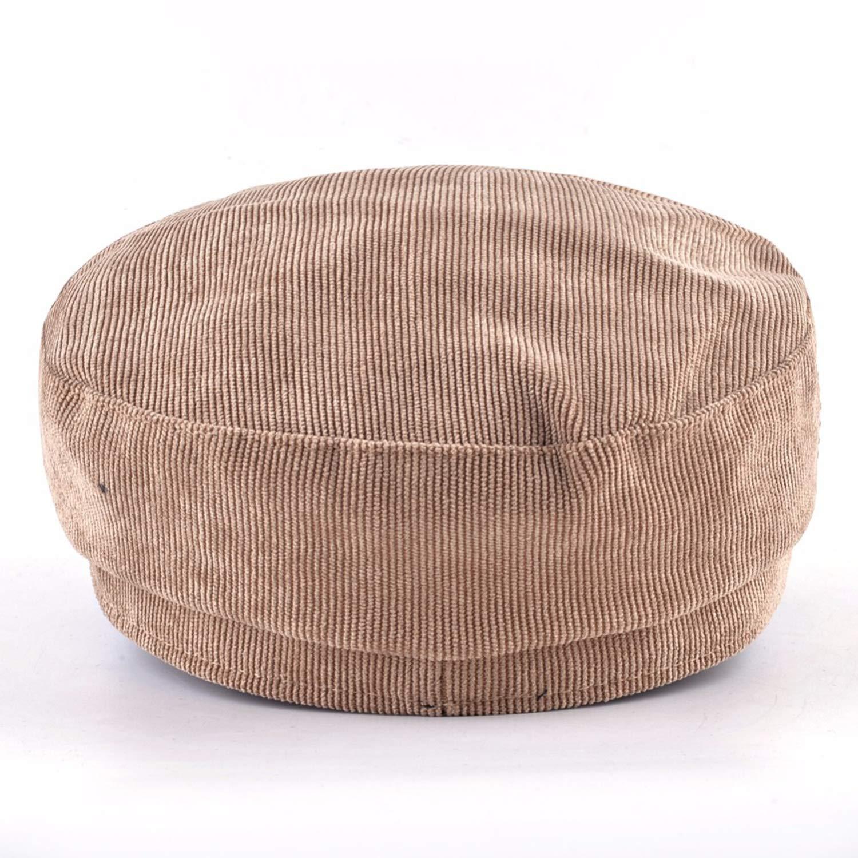 CHENTAI Fashion Stripe Women PU Visor Button and Rope Berets Cap Summer Newsboy Hat Military Hat Ladies Flat Hat