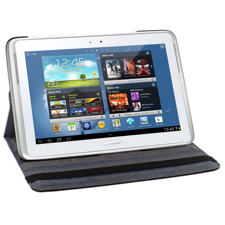 ebestStar - Compatible Funda Samsung Galaxy Note 10.1 N8000, N8010 Carcasa Cuero PU, Giratoria 360 Grados, Función de Soporte, Negro [Aparato: 262 x ...