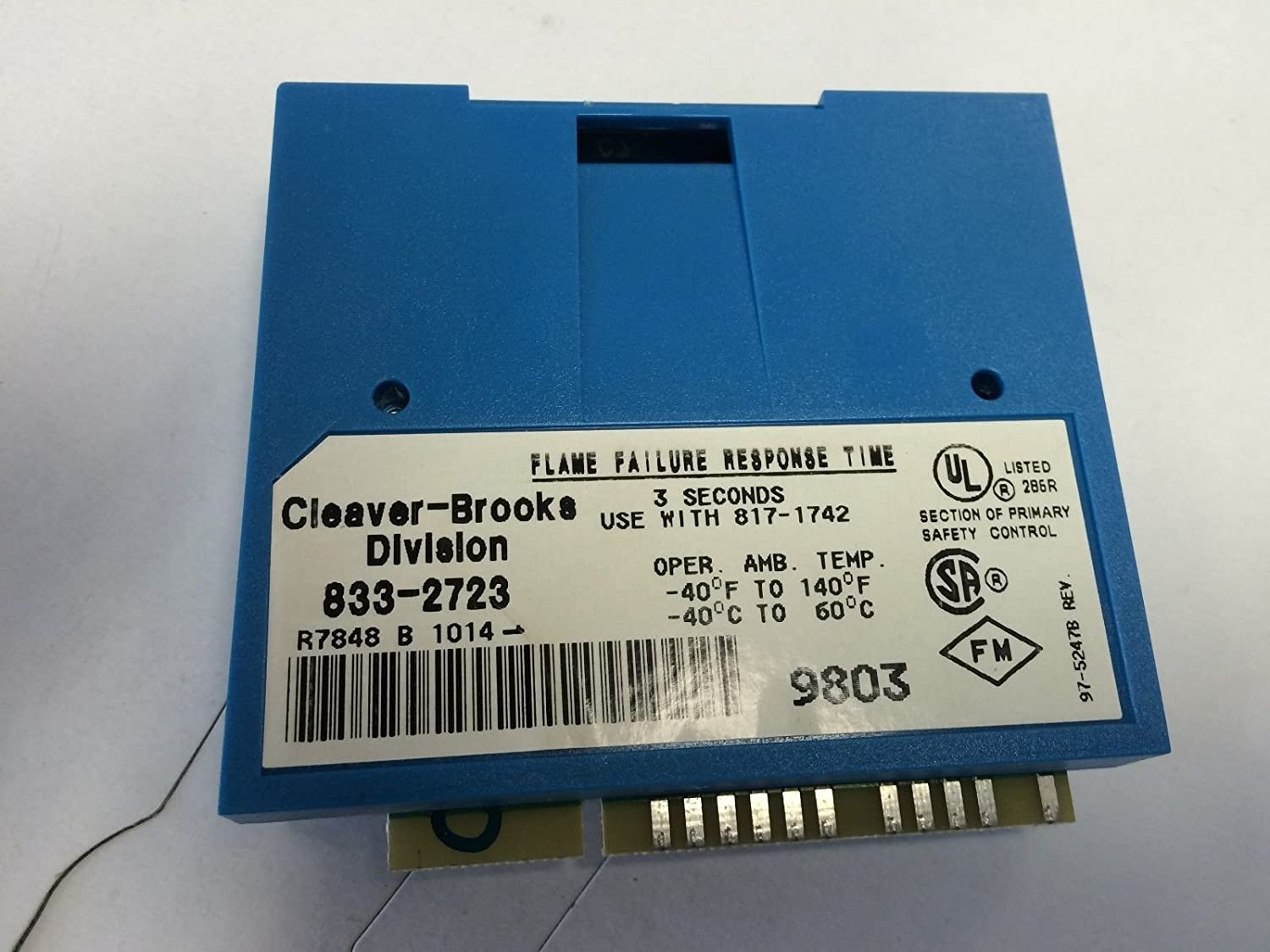 USED Cleaver Brooks 833-2723 DYNAMIC AMPLI-CHECK INFRARED FLAME AMPLIFIER BY