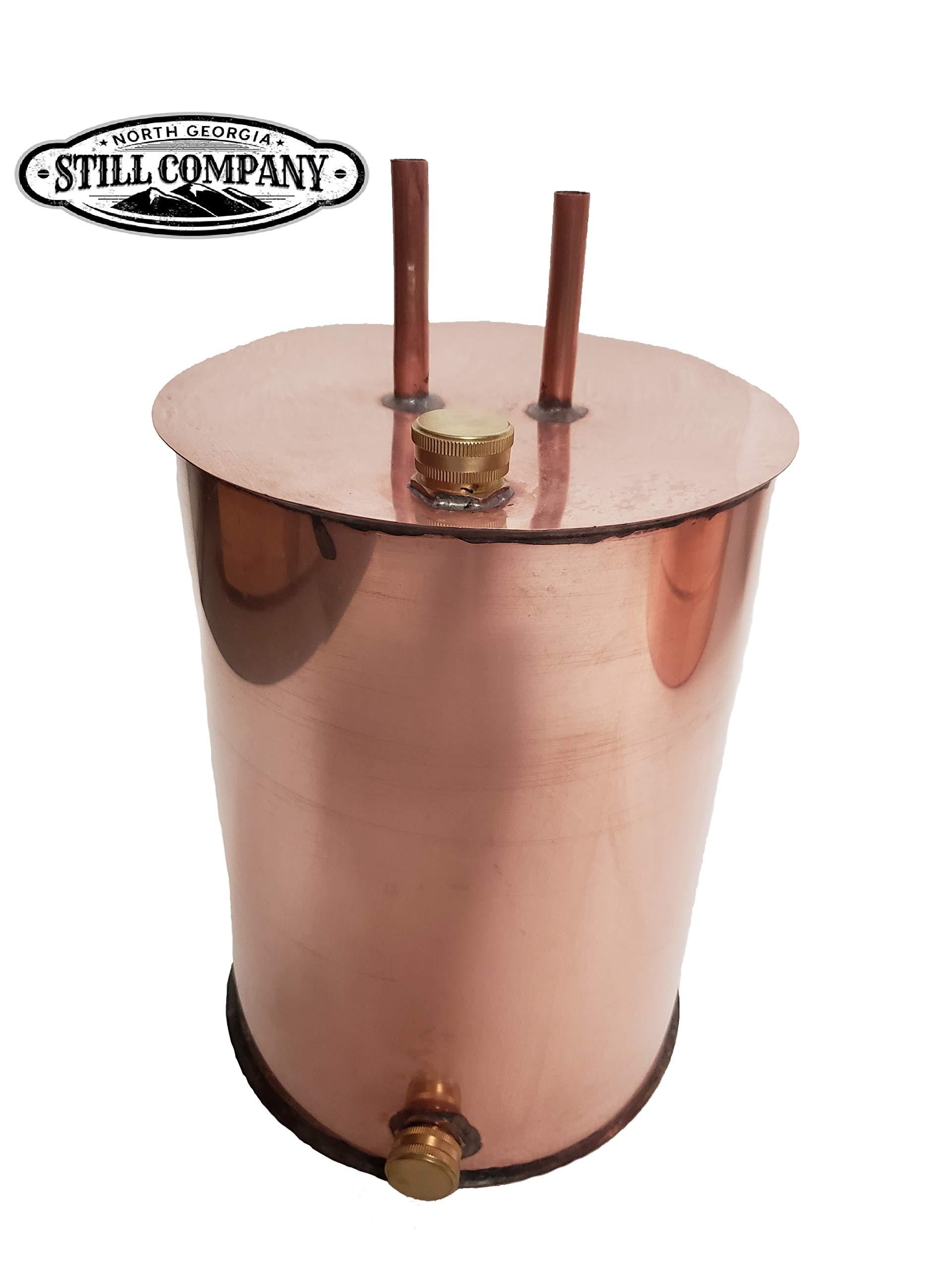 Moonshine Whiskey Still 3 Gallon Thumper Keg Doubler, 1/2 OD Tubing by North Georgia Still Company