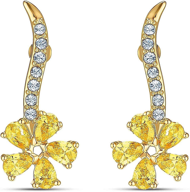 Swarovski Crystal Botanical Flower Atelier Earrings