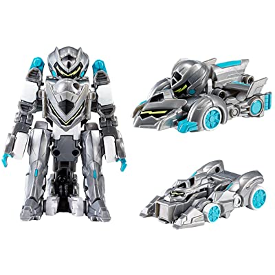 MONKART Youngtoys Mini Monster Toy Zero BEATROID Transforming Robot Shooting Car with Sword Gray: Clothing