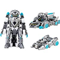 MONKART Youngtoys Mini Monster Toy Zero BEATROID Transforming Robot Shooting Car with Sword Gray