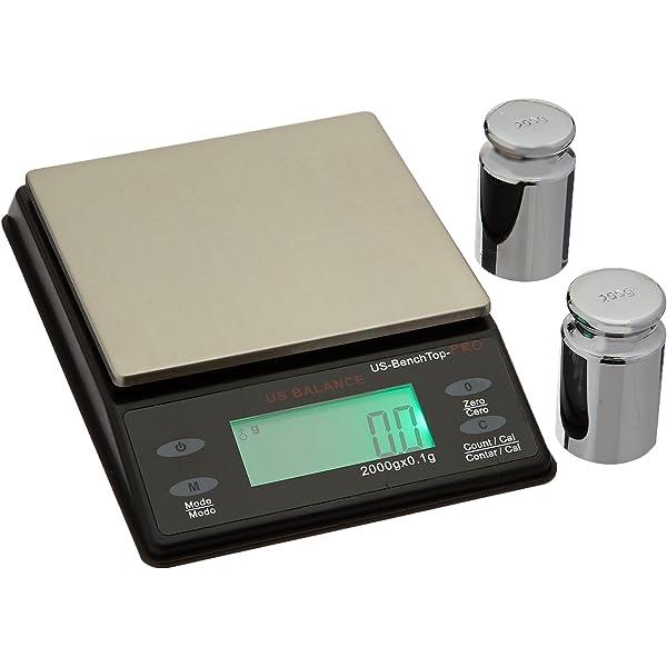 US Balance Orbit Pro 2000 x 0.1 Gram Digital Lab Scale Table Counting Scales Black