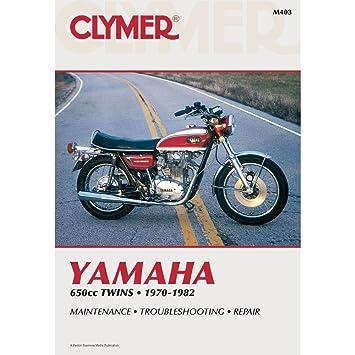 Amazon 1970 1982 Yamaha 650cc Twins CLYMER MANUAL YAM 650CC