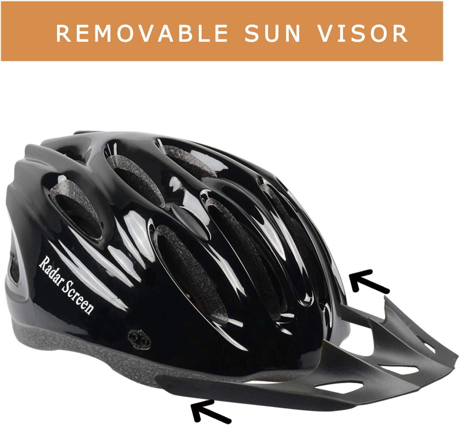 Radar Screen - Casco de Bicicleta para Hombre y Mujer, con Visera ...