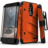 ZTE Grand X4 Case, Zizo [Bolt Series] w/ [ZTE Grand X4 Screen Protector] Kickstand [12 ft. Military Grade Drop Tested] Holster Belt Clip - Blade Spark