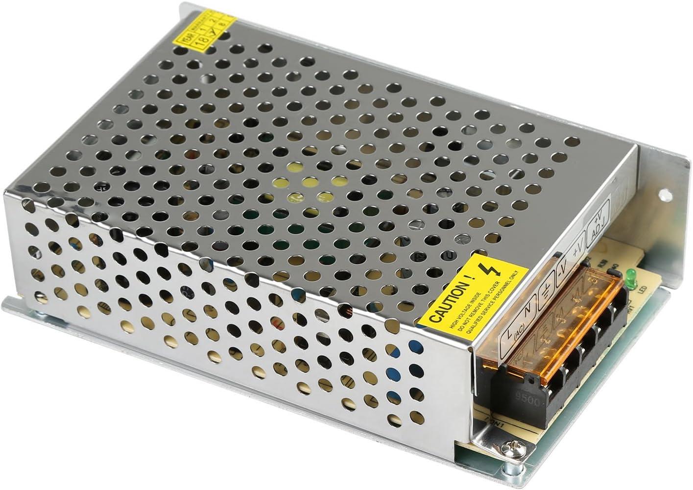 LEADSTAR 12V 5A 60W Fuente de Alimentación Conmutada AC-DC Transformador cConvertidor para la Vigilancia de Circuito Cerrado de Televisión Tira de LED Strip