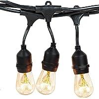 Salking 36-Foot Edison Vintage Filament Bulb Outdoor String Lights