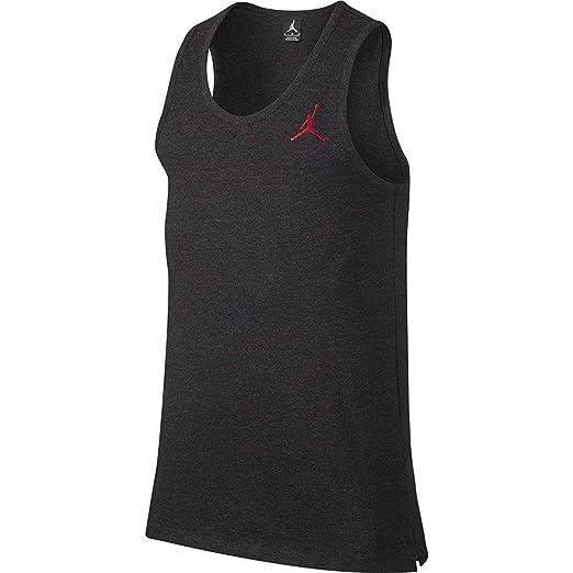e2b2d558a50788 Nike Mens Jordan All-Star Tank Black Heather University Red 789625-032 Size