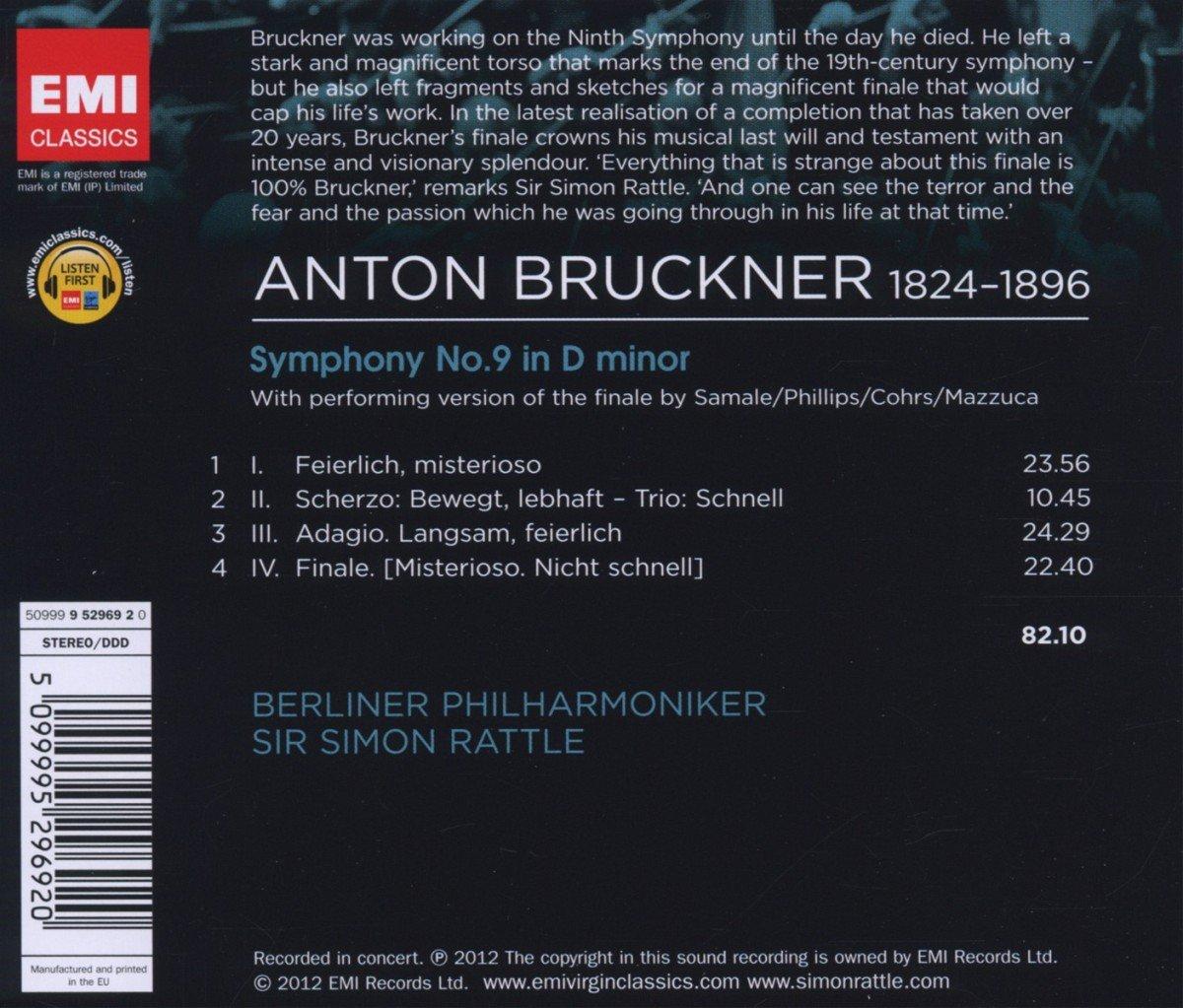 Sinfonie 9 (4 Sätze) - Simon Rattle, Bp, Anton Bruckner: Amazon.de: Musik
