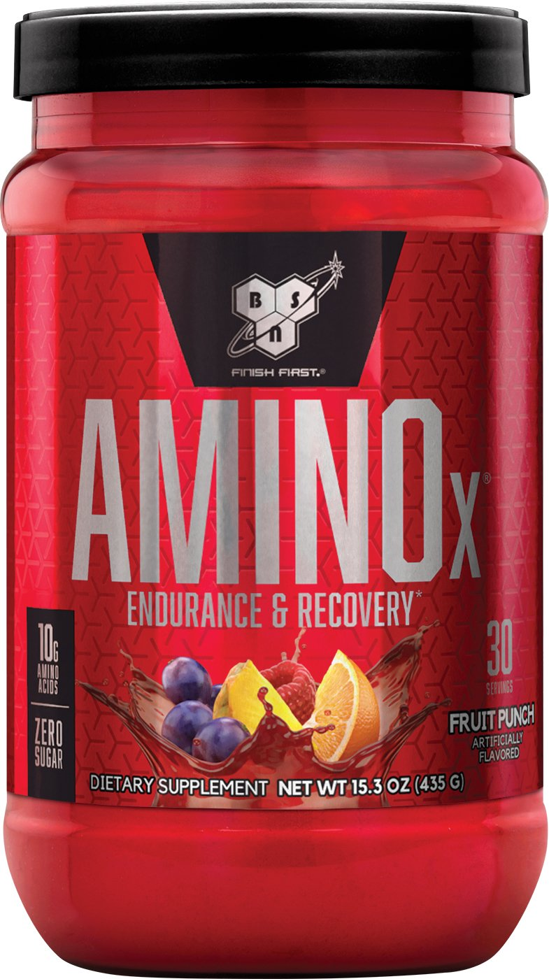 BSN Amino X Post Workout Muscle Recovery & Endurance Powder with 10 Grams of Amino Acids Per Serving, Flavor: Fruit Punch, 30 Servings (Packaging May Vary)