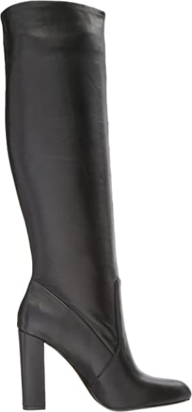 f0ccdfe368a Steve Madden Women s Eton Fashion Boot Black Leather 5.5 M US. Back.  Double-tap to zoom