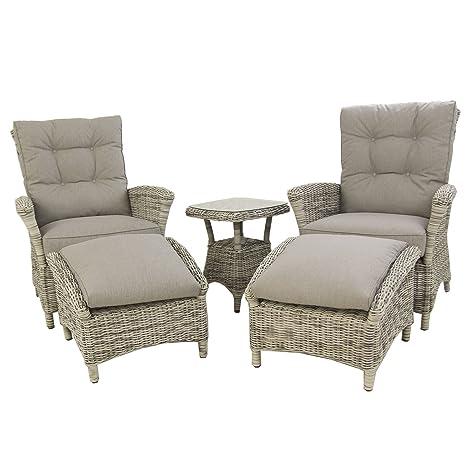 Conjunto de sofás jardín, Mesa Auxiliar, 2 sillones ...