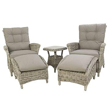 Conjunto de sofás jardín | Mesa Auxiliar, 2 sillones ...