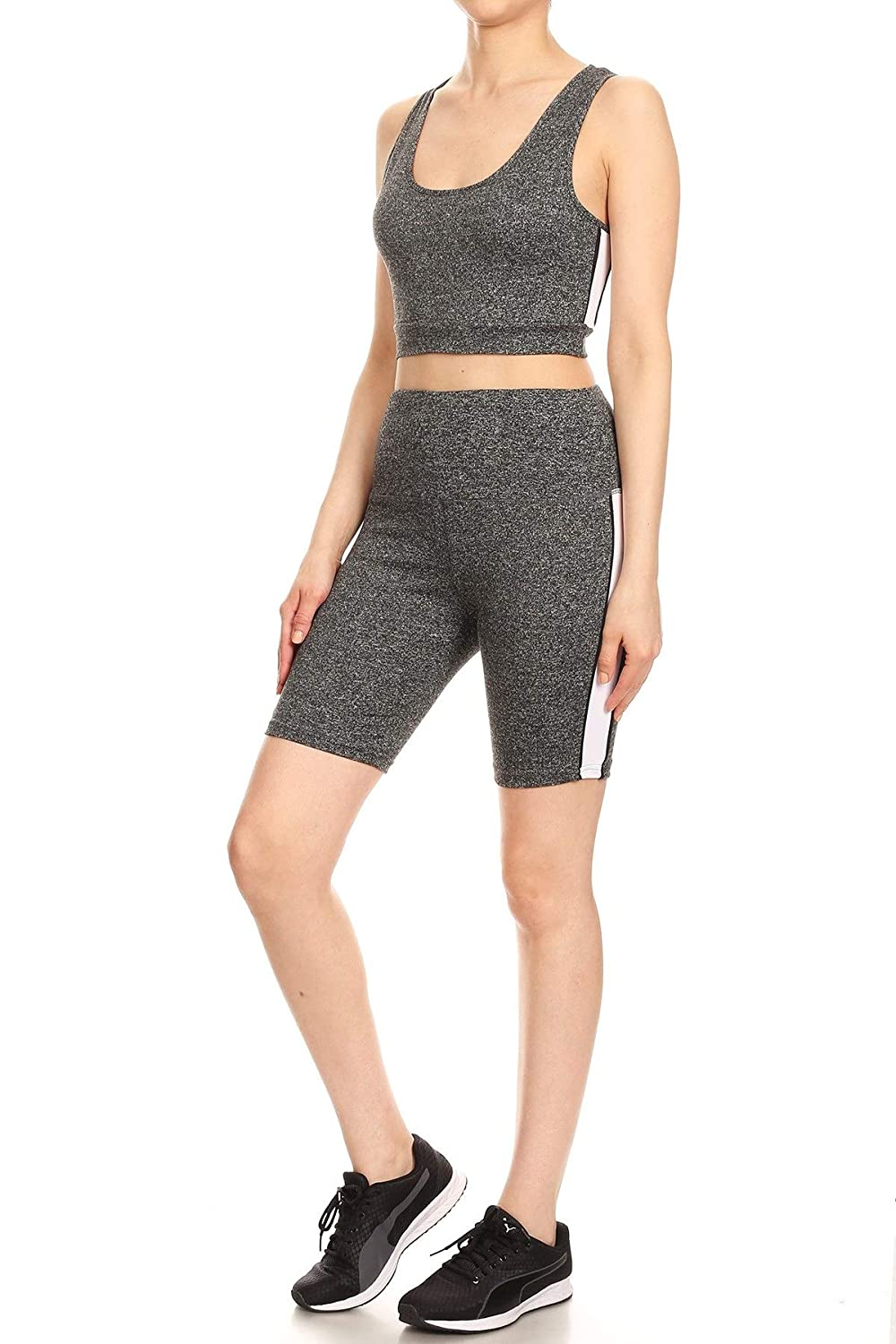 ShoSho Womens 2 Piece Activewear Sets Sports Tops and Yoga Bottoms Casual Outfits