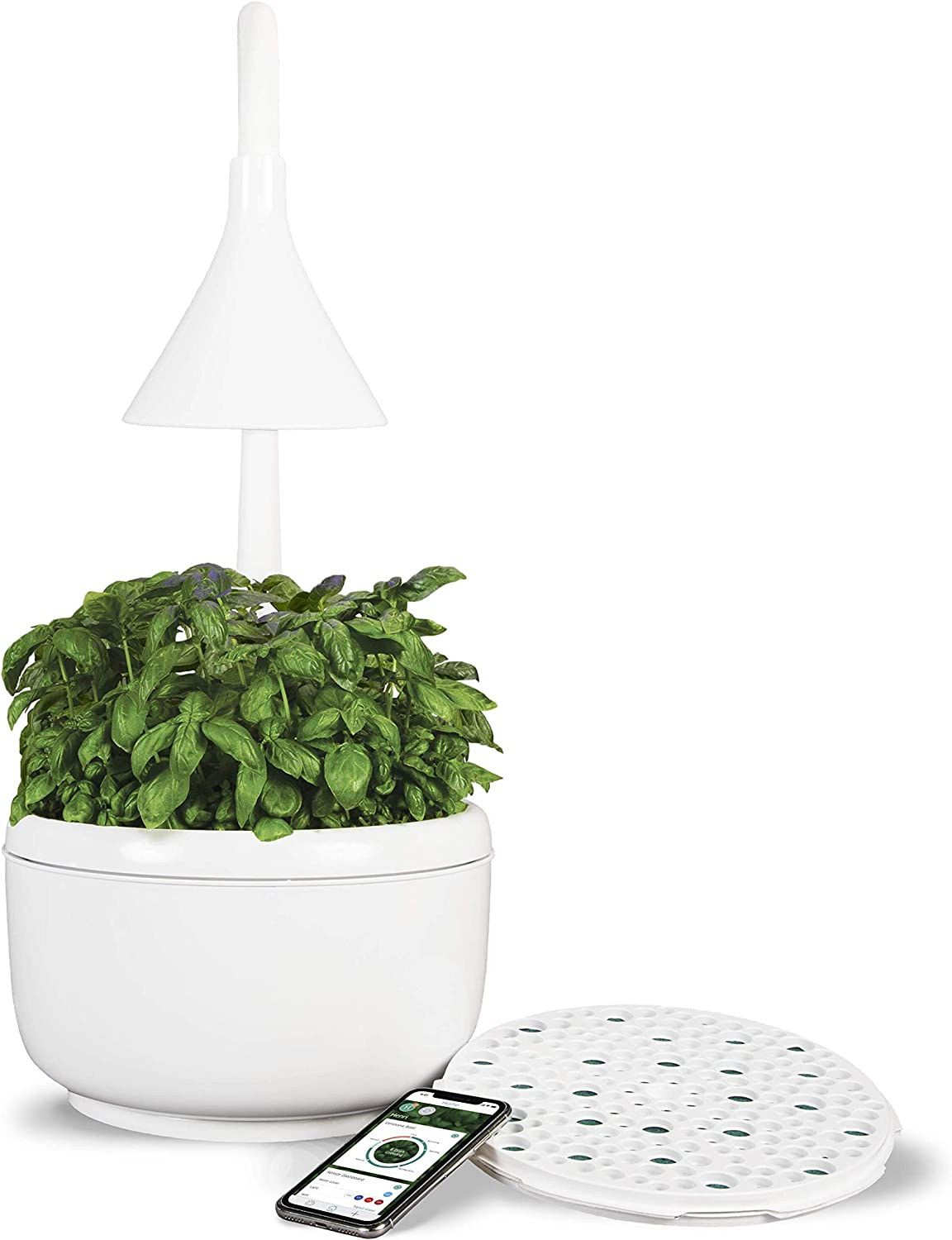SproutsIO Smart Garden – Soil-Free Connected Indoor Garden – Grow Unlimited Herbs, Greens, Roots & Fruits w/SproutsIOGrow App & Membership – Organic, Non-GMO - Compostable Seed Refills – Water & Wi-Fi