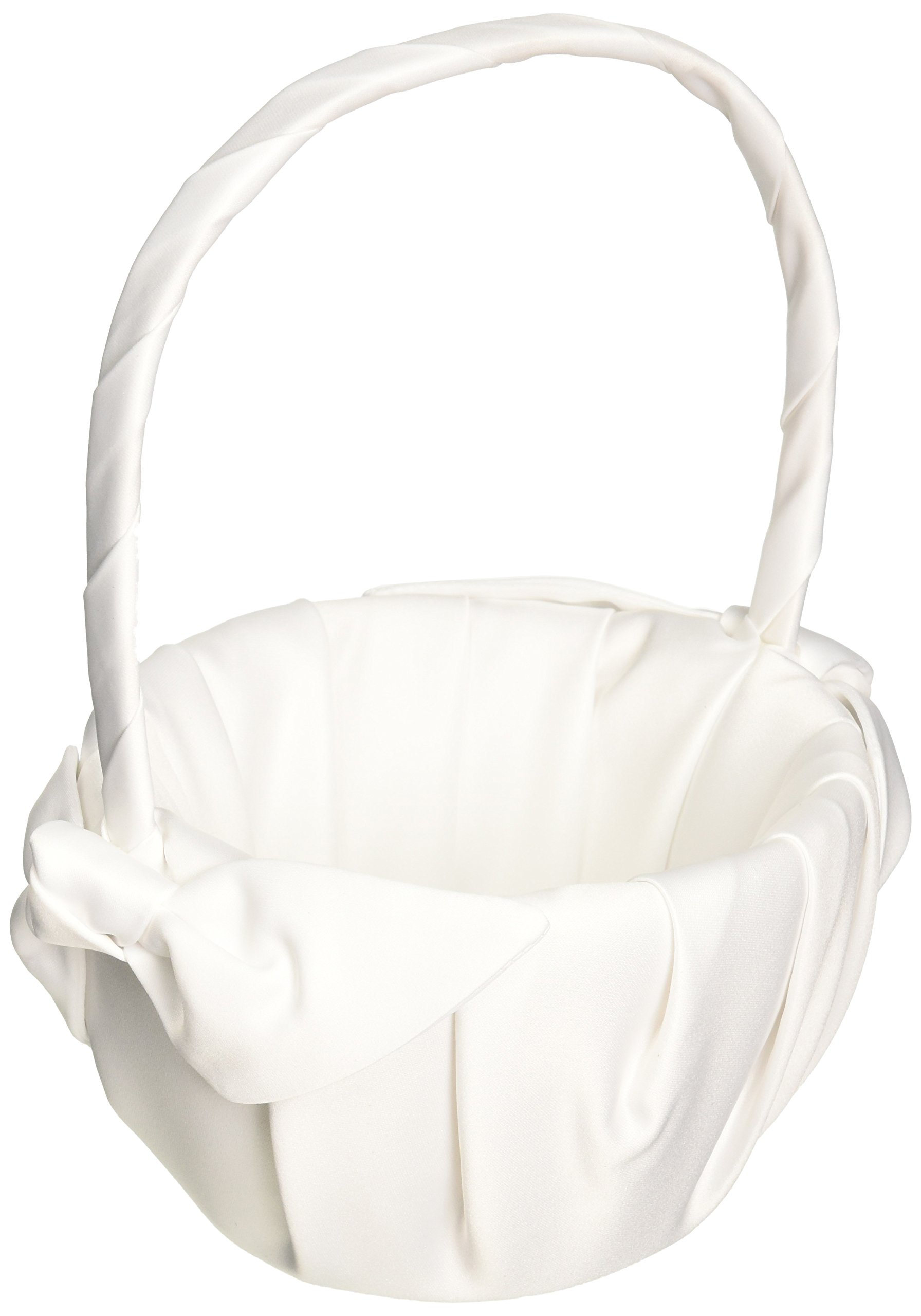 Love Knot Wedding Accessories Flower Girl Basket, White by Beverly Clark (Image #1)