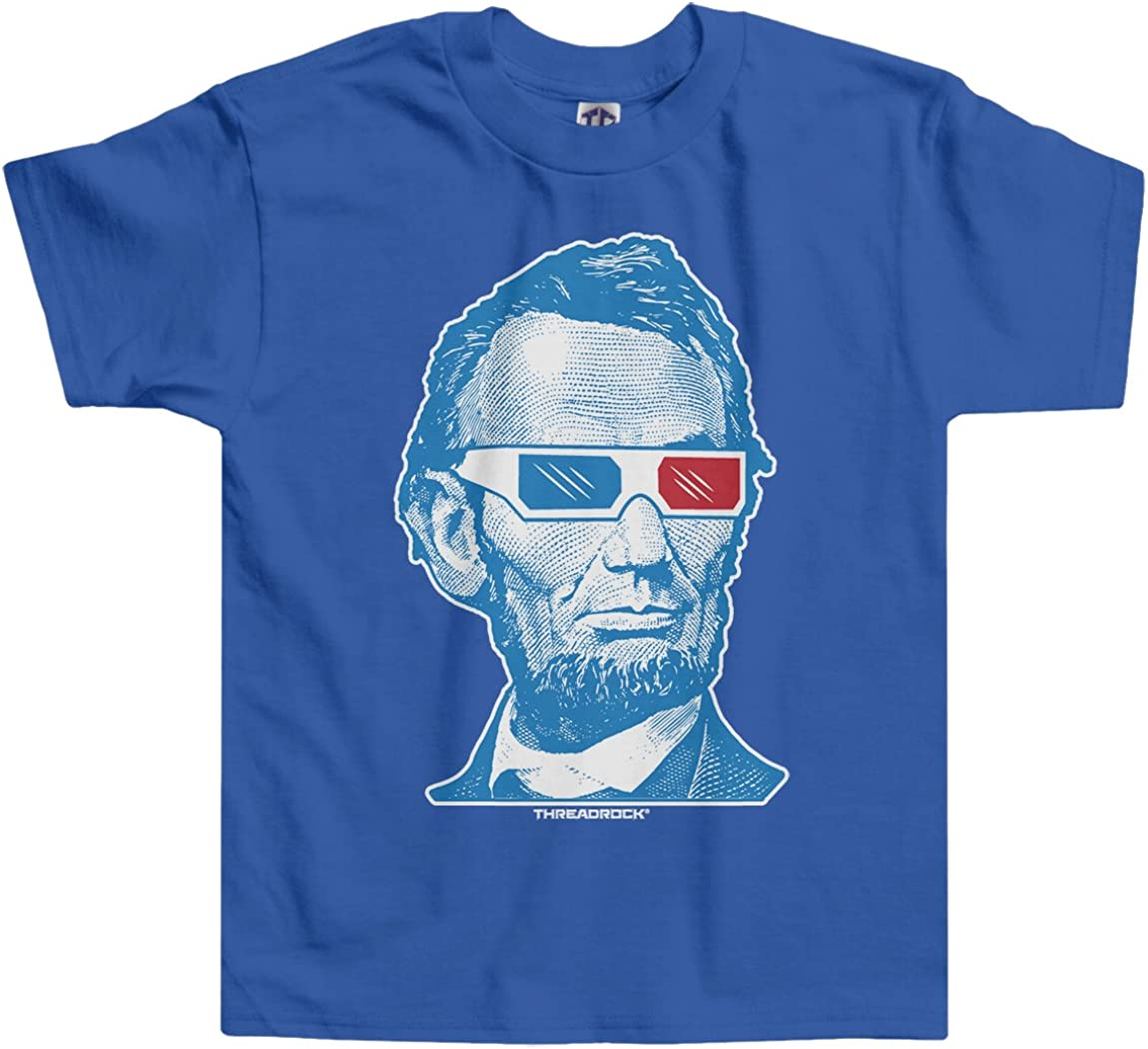 Threadrock Baby Boys Abraham Lincoln 3D Glasses Infant T-Shirt