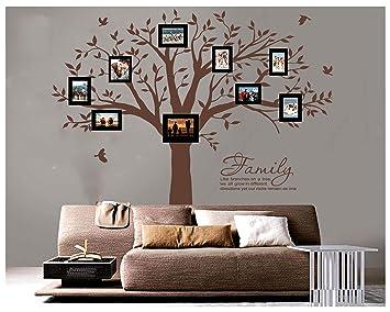 Bdecoll Wandtattoo Riesiger Familie Foto Baum Wandsticker Diy
