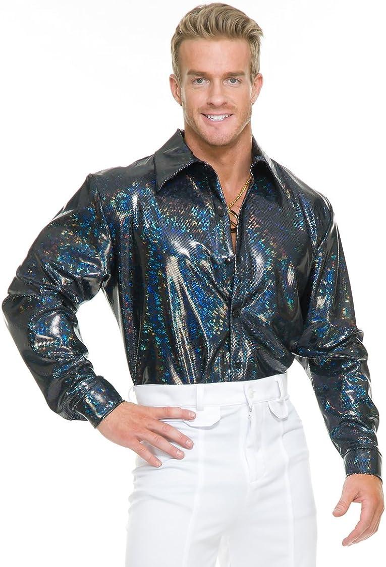 Charades Mens Snakeskin Disco Shirt