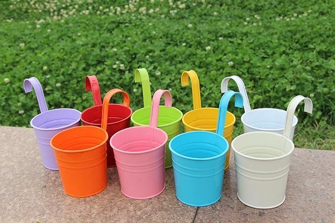 Decorazioni Da Giardino In Metallo : Cyclingdad me multi angolo fiore in vaso fioriere vasi di