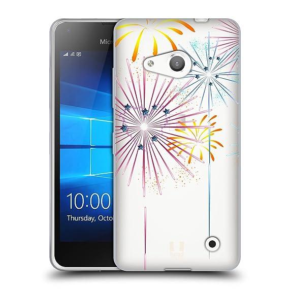 head case designs heart fireworks explosion soft gel case for microsoft lumia 550