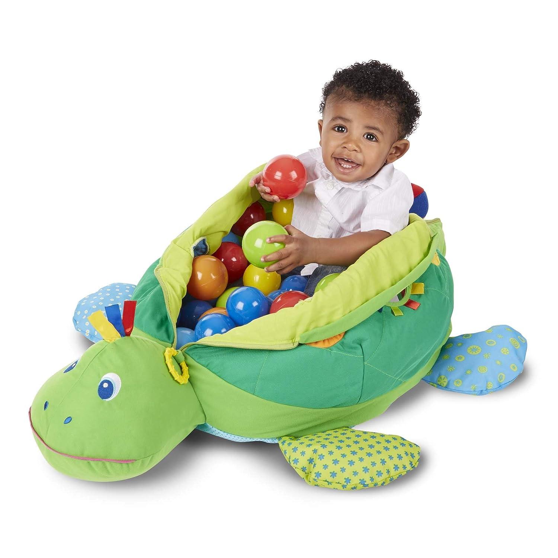 43c9f5811 Amazon.com  Melissa   Doug Kids Turtle Ball Pit With 60 Balls  Toys ...