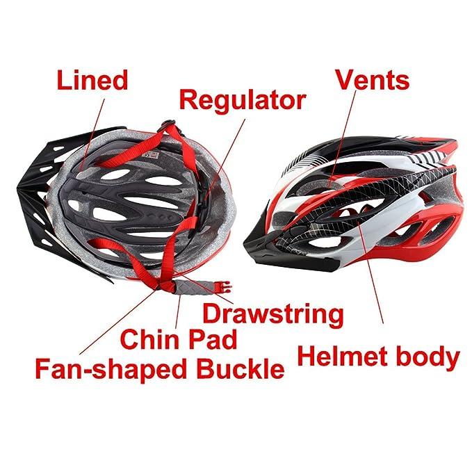 Amazon.com : eDealMax Patente autorizado Unisex adulta extraíble Ciclismo Gorra Con visera, Sombrero de bicicletas, Ajustable Seguridad Vial Casco de la ...