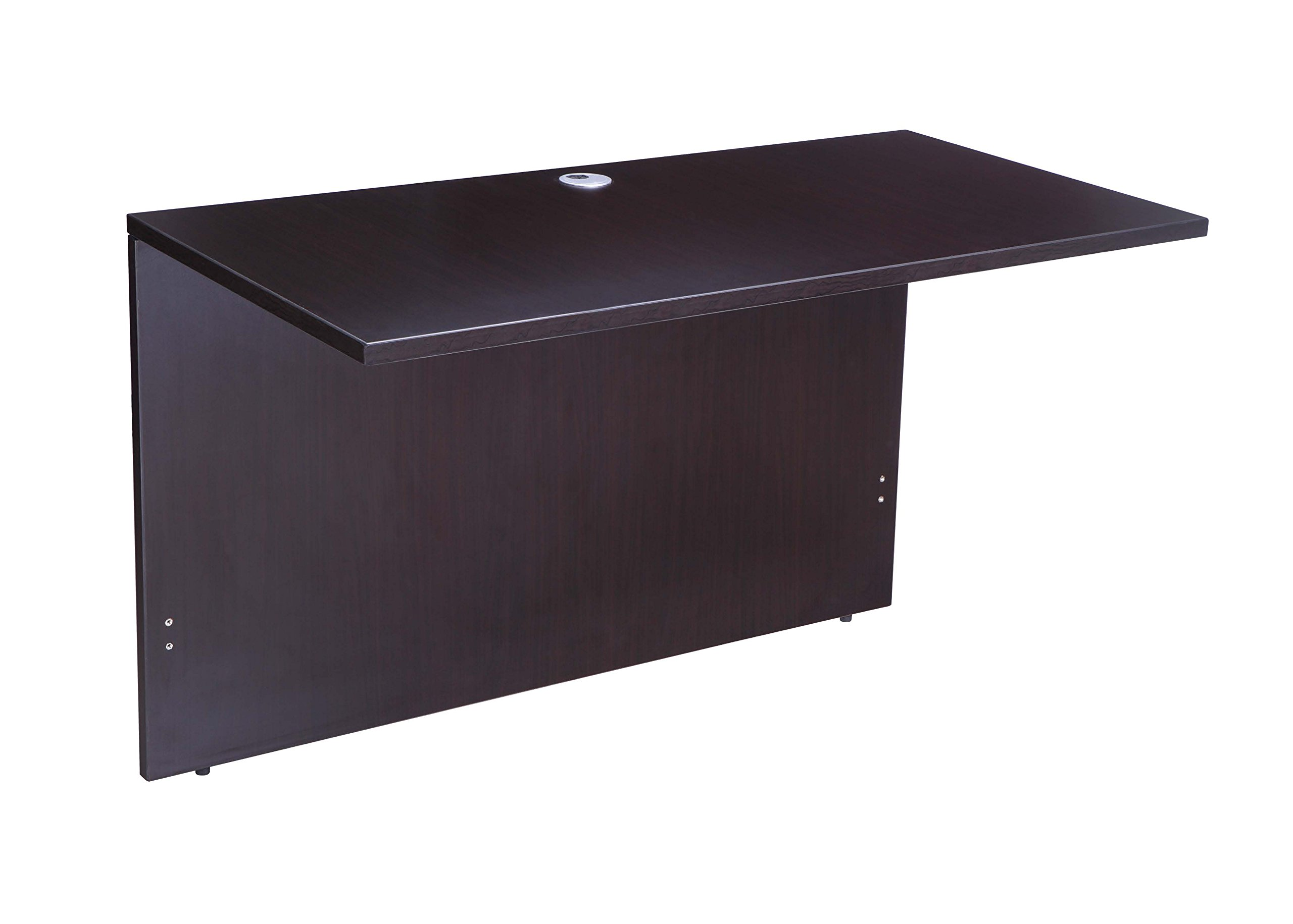 Boss Office Products Holland 71'' Executive U-Shape Desk with File Storage Pedestal and Hutch, Mocha by Boss Office Products (Image #4)