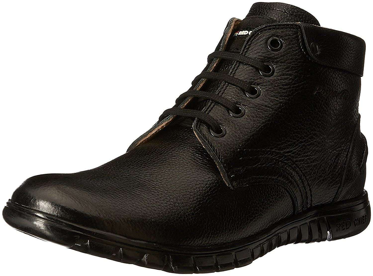 Buy Red Chief Men's Black Leather Boat