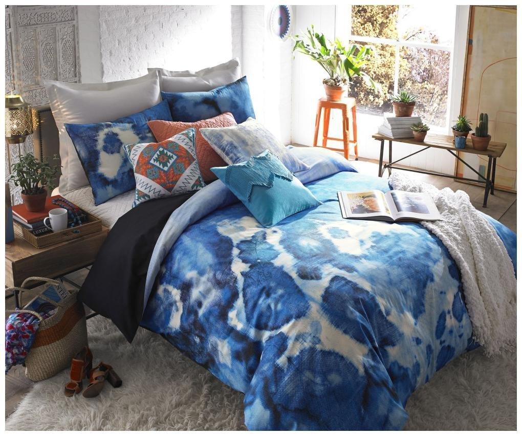 Blissliving Home 14824BEDDQUEMUL Casa Azul 92-inch by 96-inch 3 Piece Queen Duvet Set, Multi