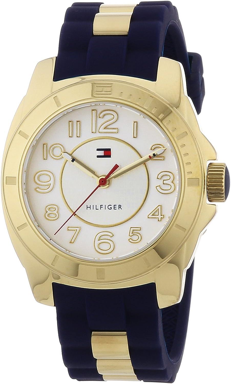 Tommy Hilfiger 1781307 - Reloj analógico de Cuarzo para Mujer con Correa de Silicona, Color Azul