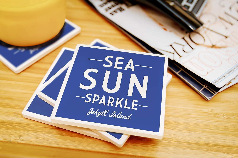 Lantern Press Jekyll Island Simply Said 79897 Sea Sun Sparkle 60x80 Poly Fleece Thick Plush Blanket Georgia
