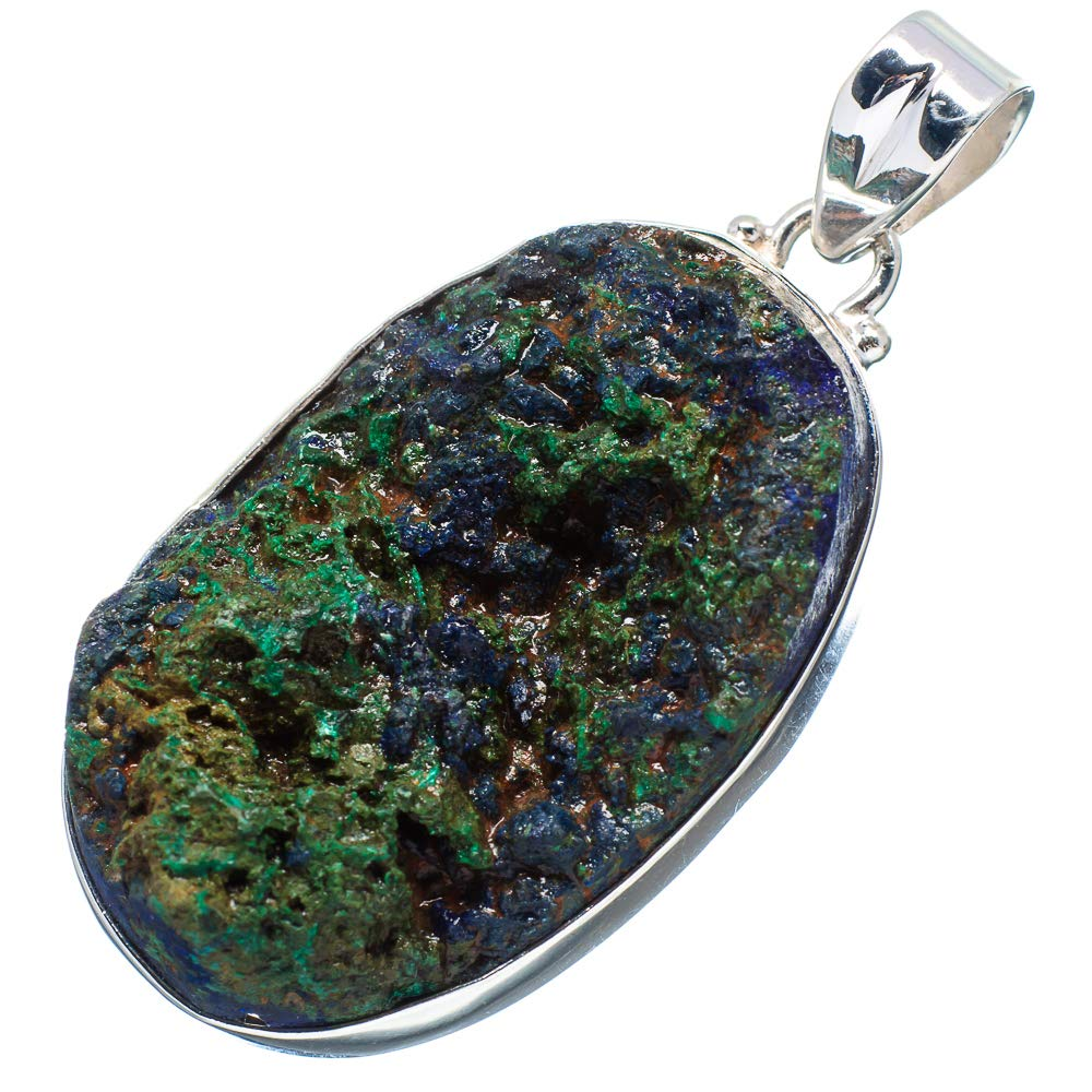 - Handmade Jewelry 925 Sterling Silver Ana Silver Co Rough Azurite Pendant 2 1//4 Vintage PD669124 Bohemian