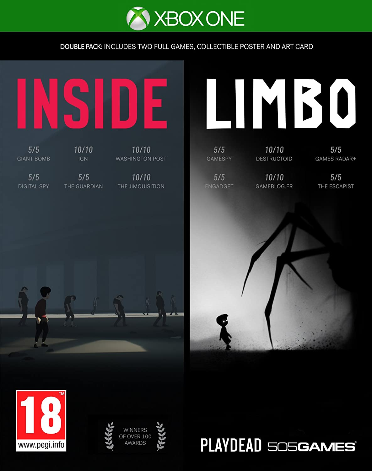 Amazon com: Inside-Limbo Double Pack (Xbox One): Video Games