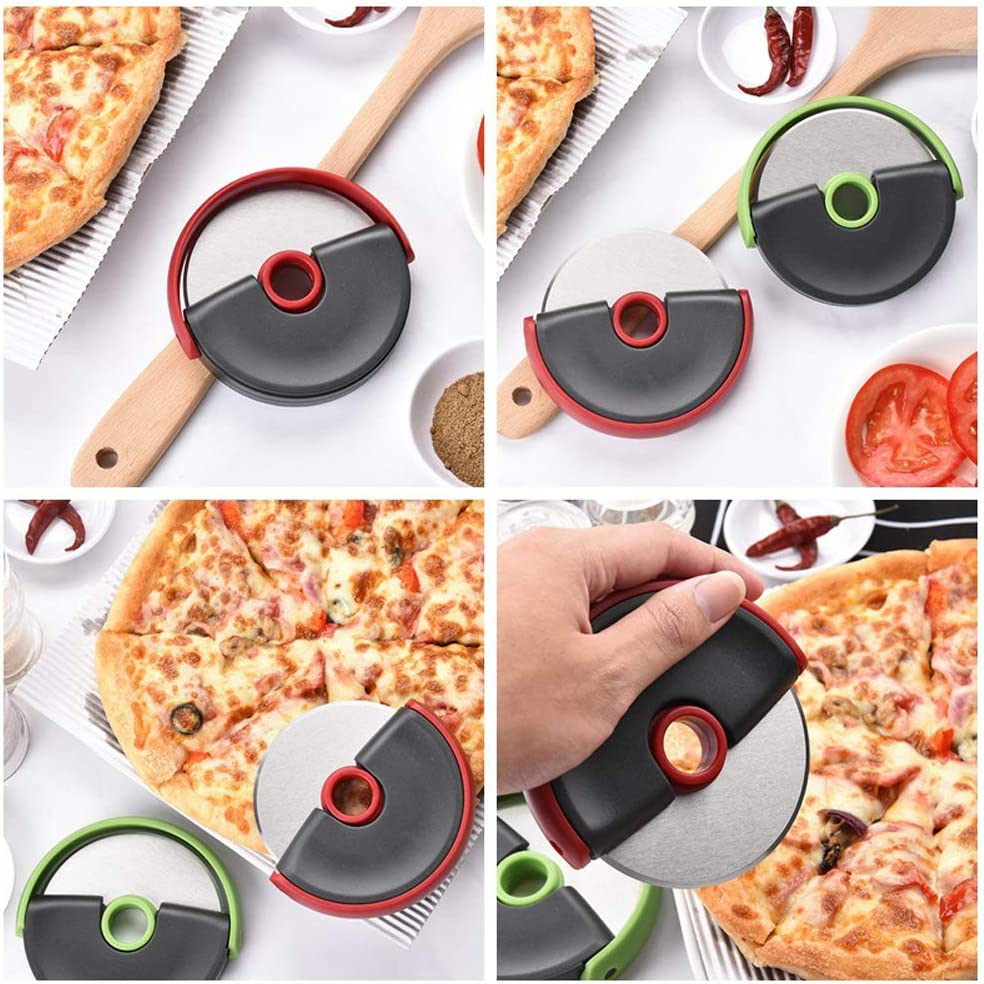 Pizza Cutter//Pizza Wheel//Pizza Slicer Stainless Steel Comfortable Palm grip