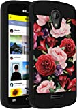 BLU Studio X8 HD case,SLMY [Shock Absorption] Drop Protection Hybrid Dual Layer Armor Protective Case Cover for BLU Studio X8 HD-Red Flowers
