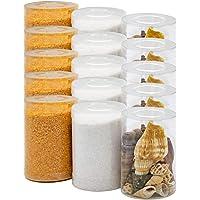 Dekovita 2kg Sabbia Decorativa con Conchiglie Set Granulata Colorata 1-4mm