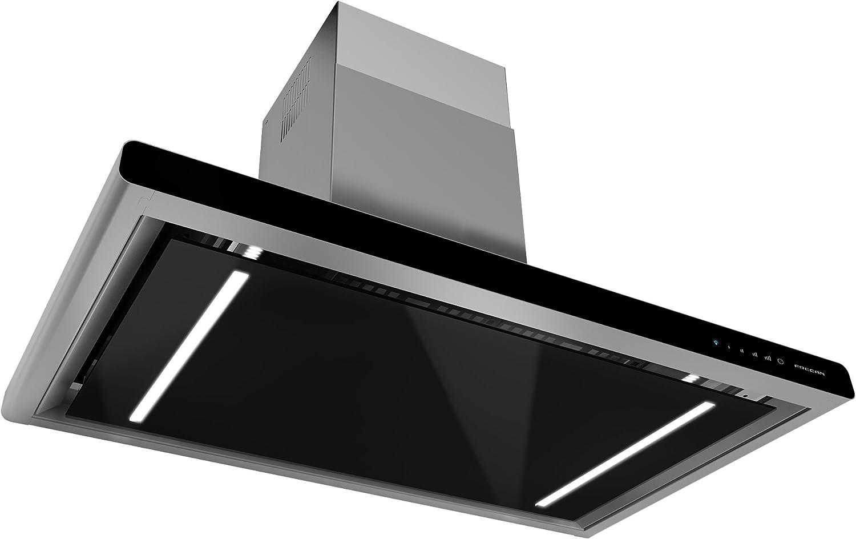 Focan Impress 900 - Campana de pared (acero inoxidable), color negro: Amazon.es: Grandes electrodomésticos