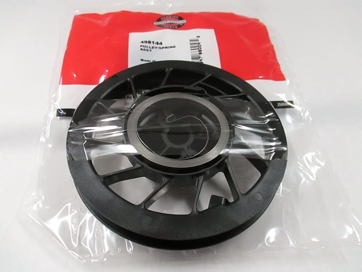 Lawnmowers Parts Genuine OEM Briggs /& Stratton 498144/Recoil Starter Pulley /& Spring