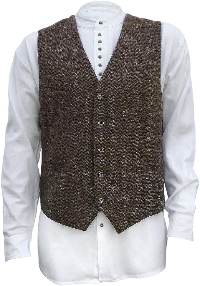The Celtic Ranch Men's Blended-Wool Tweed Vest