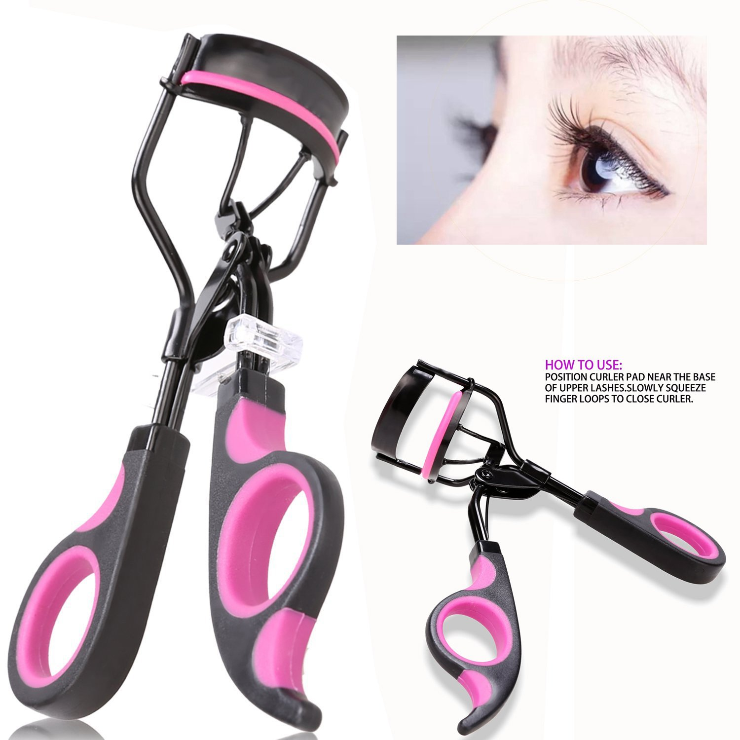 Itian Professional Eyelash Curler Tool With Silicone Refill Pad For