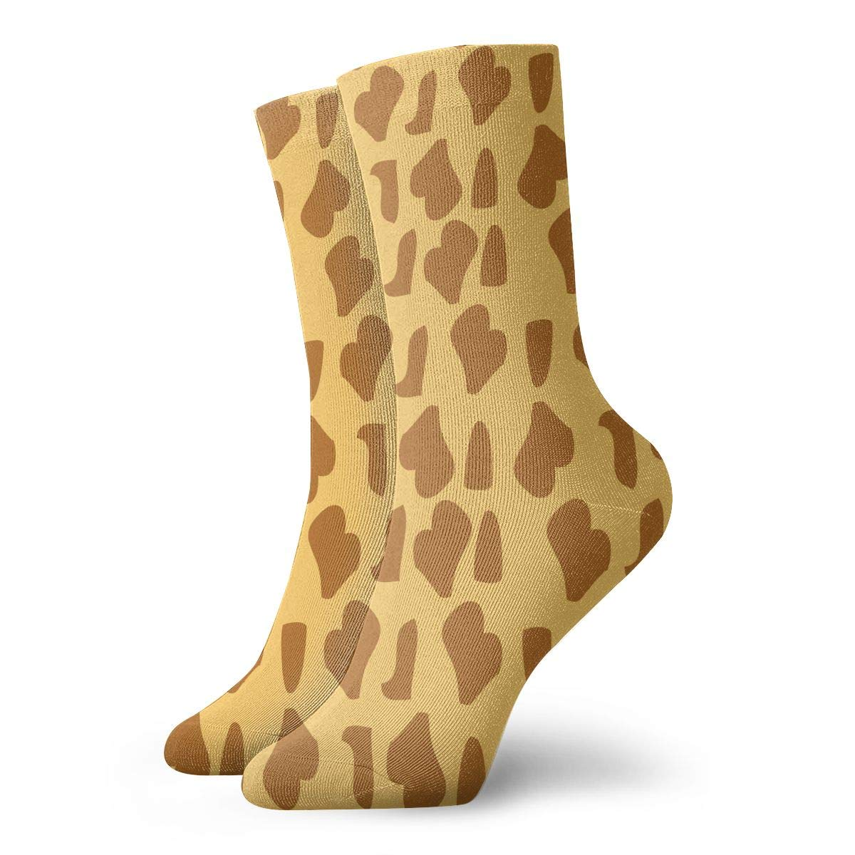 Unisex Giraffe Fur Texture Background Athletic Quarter Ankle Print Breathable Hiking Running Socks