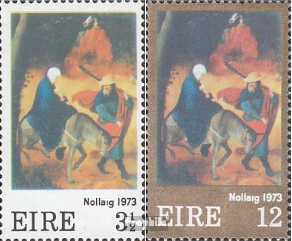 Christmas 1973 christmas Ireland 296-297 Stamps for collectors complete.issue.